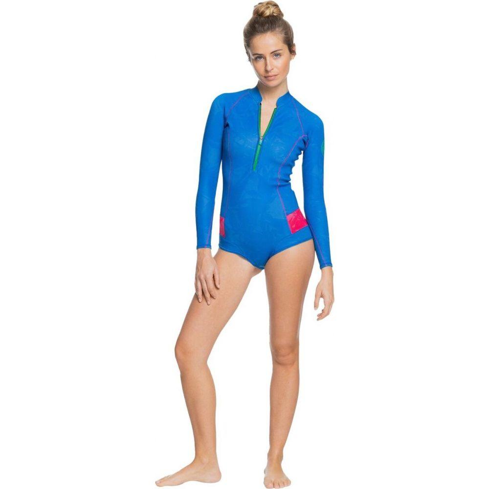 ロキシー レディース サーフィン トップス Princess Blue Beetroot 返品不可 Purple Springsuit Cheeky [正規販売店] POP 1mm Long-Sleeve Roxy Surf サイズ交換無料