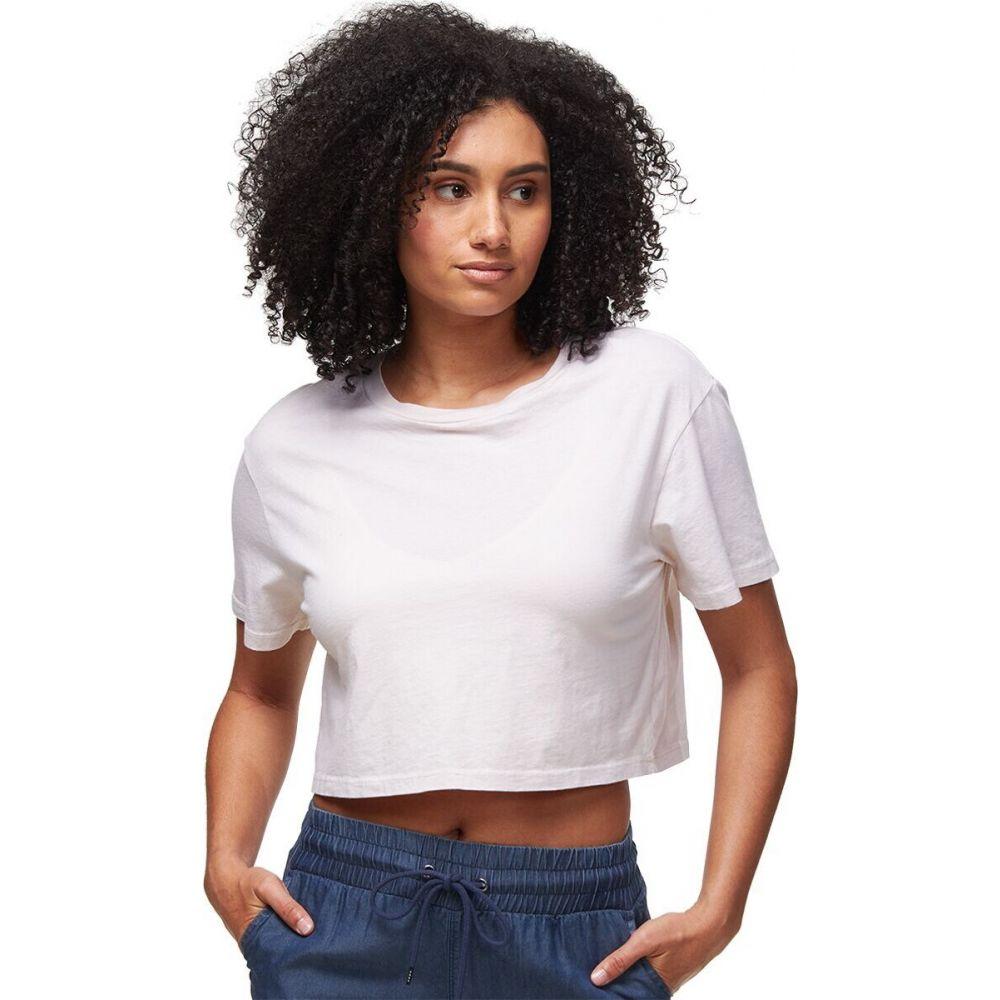 セール品 モンロー レディース トップス ベアトップ チューブトップ クロップド Bone T-Shirt Tシャツ サイズ交換無料 Monrow Cropped Ex-Boyfriend 激安 激安特価 送料無料