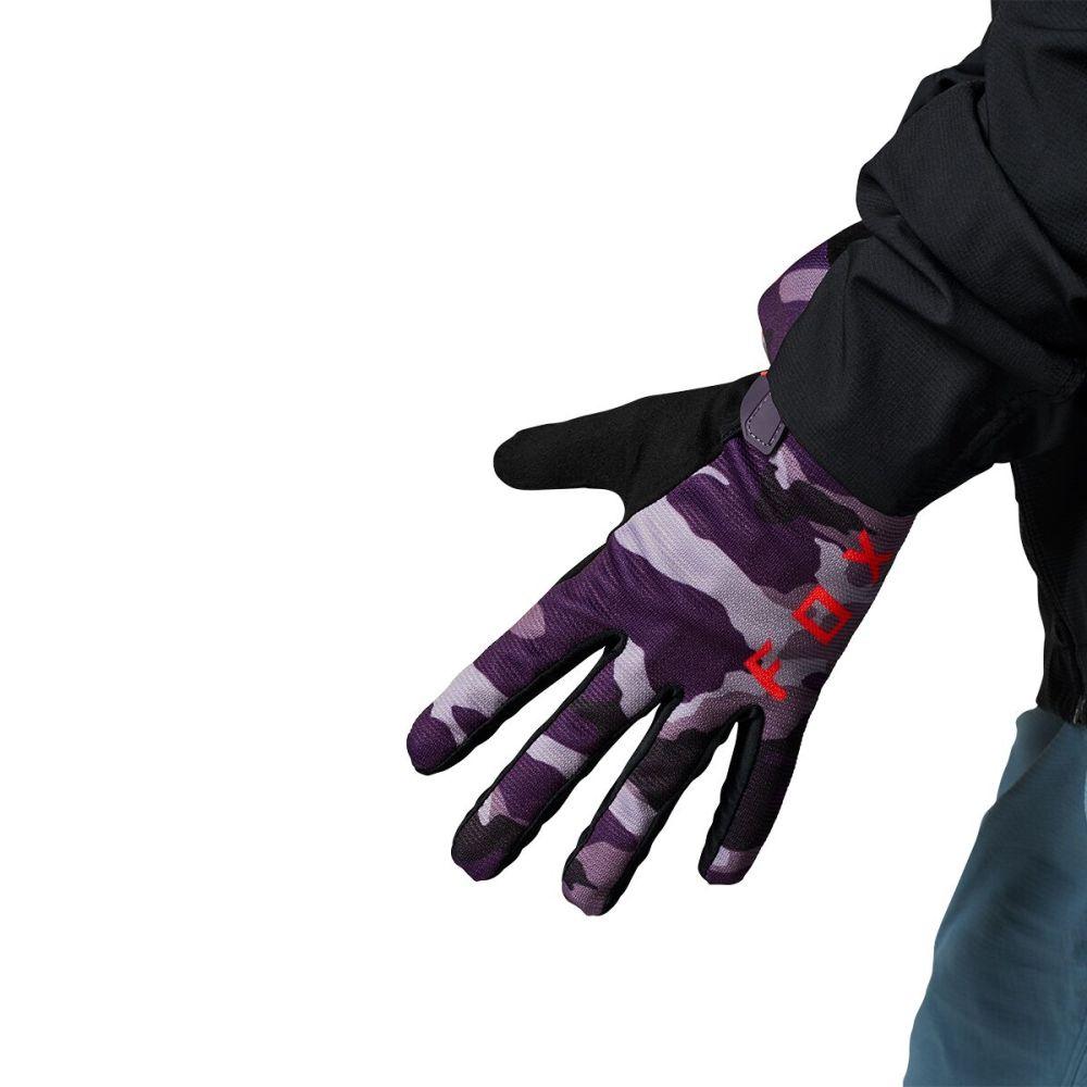 フォックス レーシング レディース 自転車 グローブ Dark Purple Camo 【サイズ交換無料】 フォックス レーシング Fox Racing レディース 自転車 グローブ【Ranger Refuel Glove】Dark Purple Camo