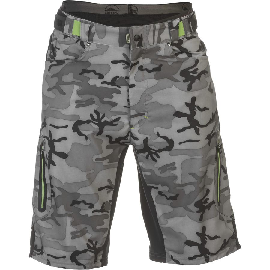 ゾイック ZOIC メンズ サイクリング ウェア【Ether Camo Shorts】Grey Camo