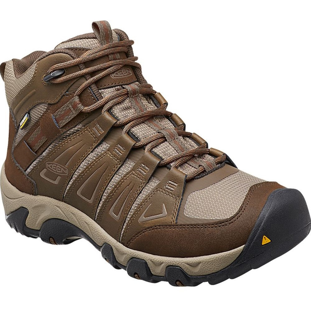 キーン KEEN メンズ 登山 シューズ・靴【Oakridge Mid WP Hiking Boot】Cascade/Brindle