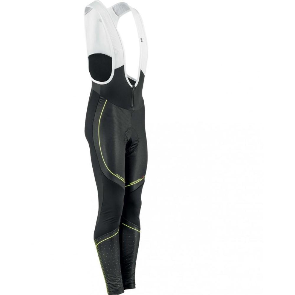 イルスガーナー Louis Garneau メンズ サイクリング ウェア【Course Elite Bib Tights】Black/Bright Yellow