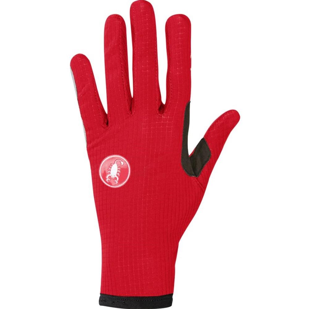 カステリ Castelli レディース サイクリング ウェア【Scudo Glove】Red/Black