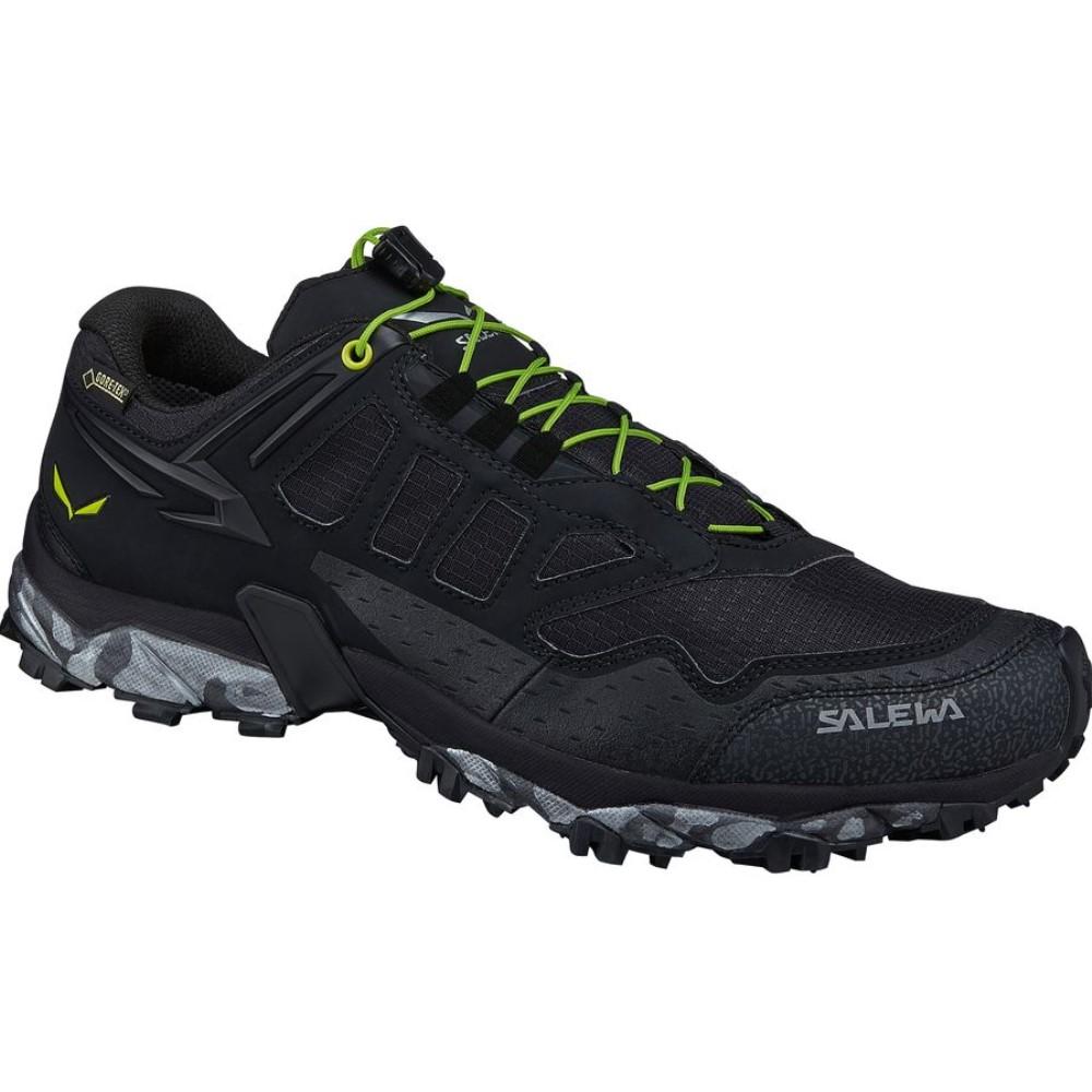 サレワ Salewa メンズ ランニング シューズ・靴【Ultra Train GTX Trail Running Shoe】Black/Swing Green