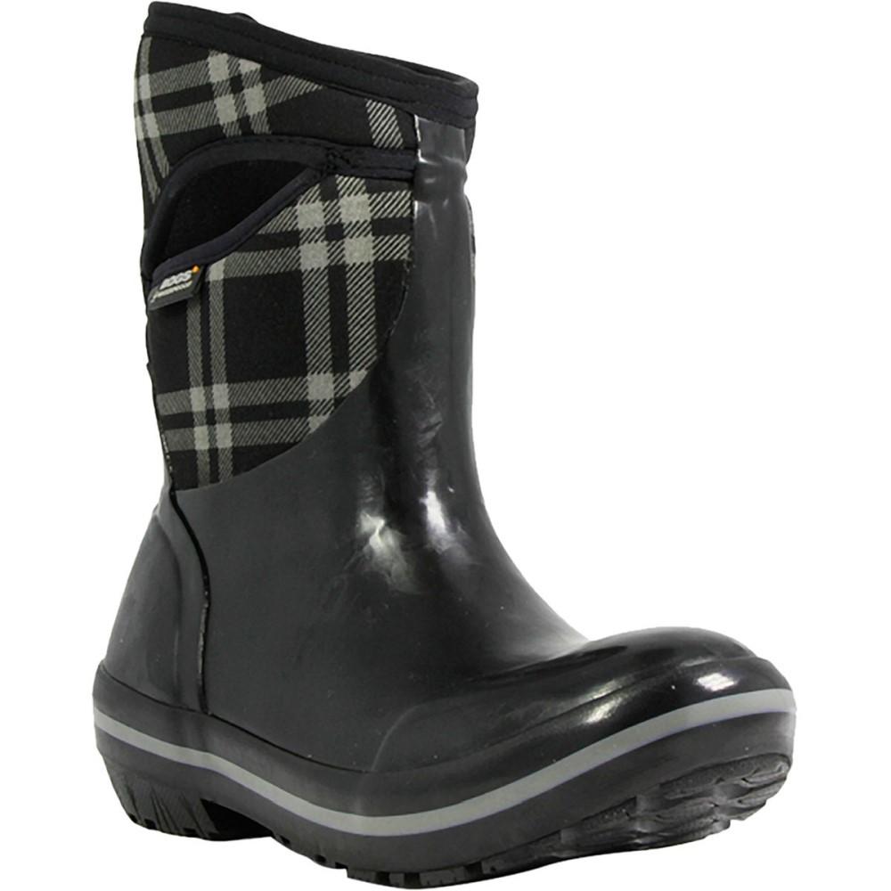ボグス Bogs レディース スノー シューズ・靴【Plimsoll Plaid Mid Boot】Black