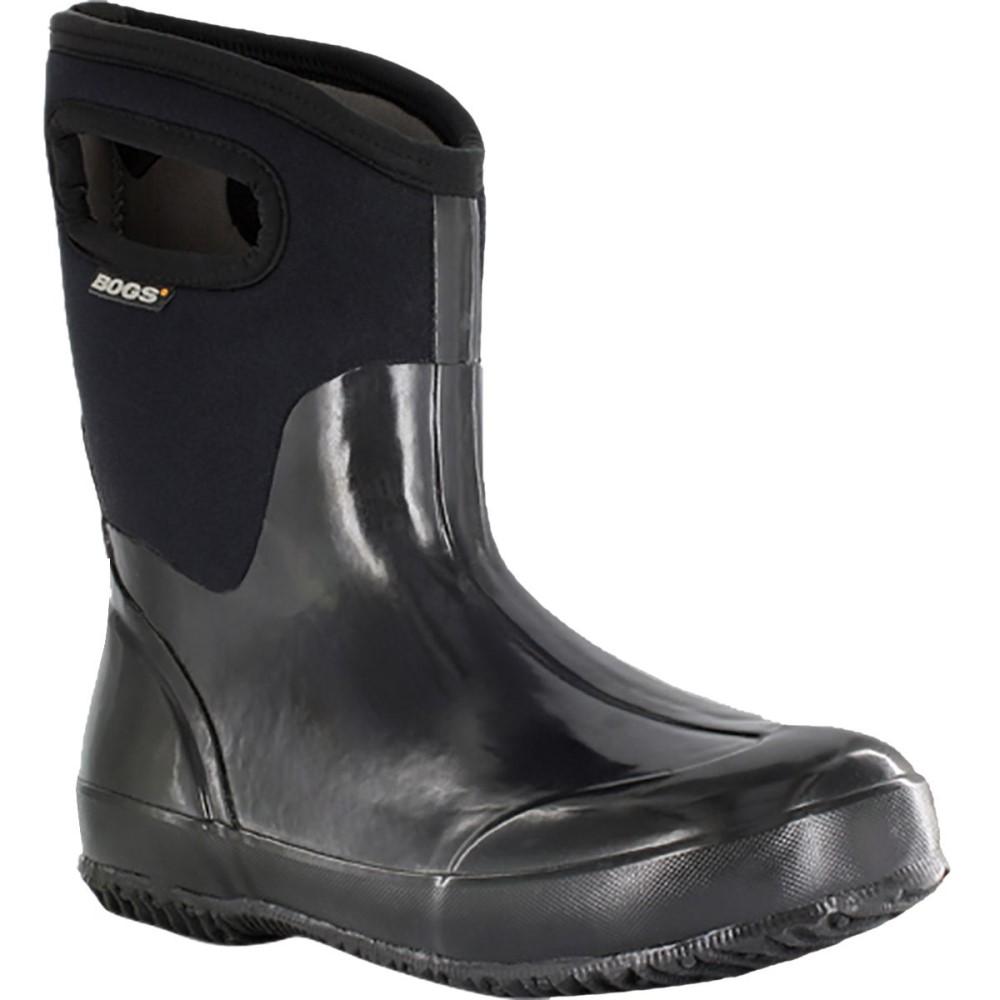 ボグス Bogs レディース スノー シューズ・靴【Classic Mid Handle Boot】Black Shiny