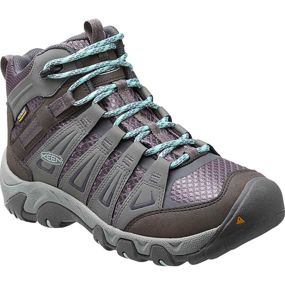 キーン KEEN レディース ハイキング シューズ・靴【Oakridge Mid WP Hiking Boot】Gray/Shark