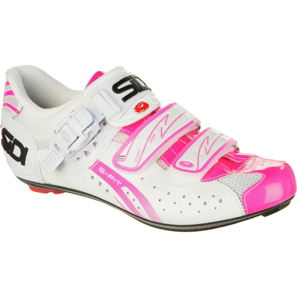 シディ Sidi レディース 自転車 シューズ・靴【Genius 7 Carbon Shoe】White/Pink Fluo