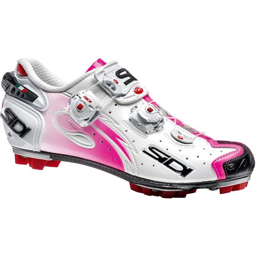 シディ Sidi レディース 自転車 シューズ・靴【Drako Shoe】White/Pink Fluo