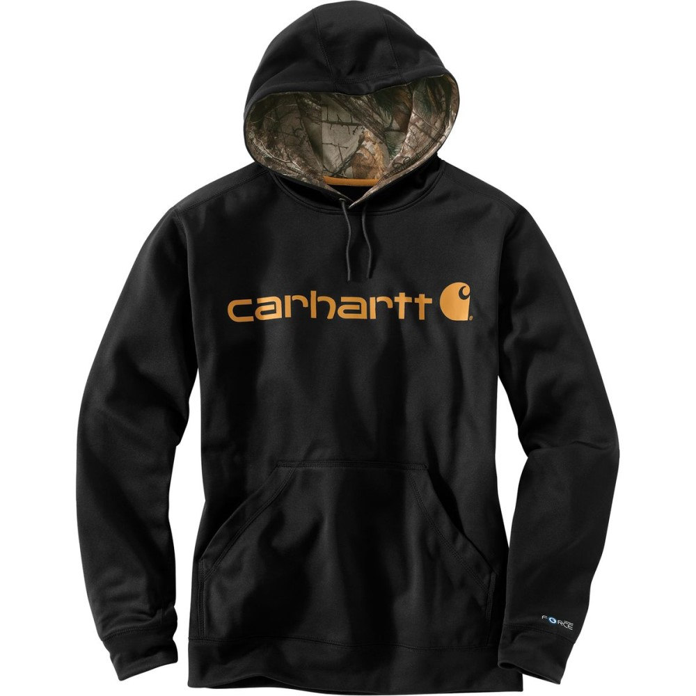 カーハート Carhartt メンズ フィットネス ウェア【Force Extremes Signature Graphic Hooded Sweatshirt】Black