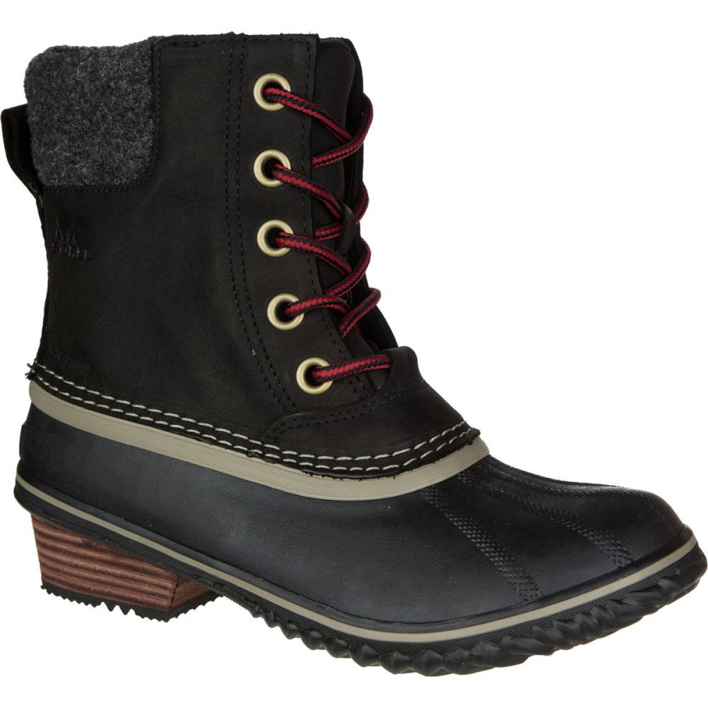 ソレル Sorel レディース スノー シューズ・靴【Slimpack II Lace Boot】Black/Kettle