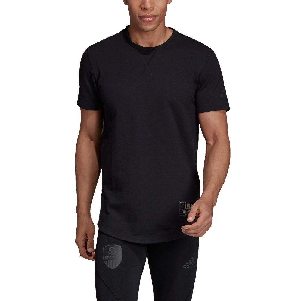 アディダス adidas Volleyball レディース バレーボール レディース トップス USA【Adidas Unisex USA Volleyball Terry T-Shirt】Black/Carbon/White, リーブス革鞄店:6312f19b --- officewill.xsrv.jp