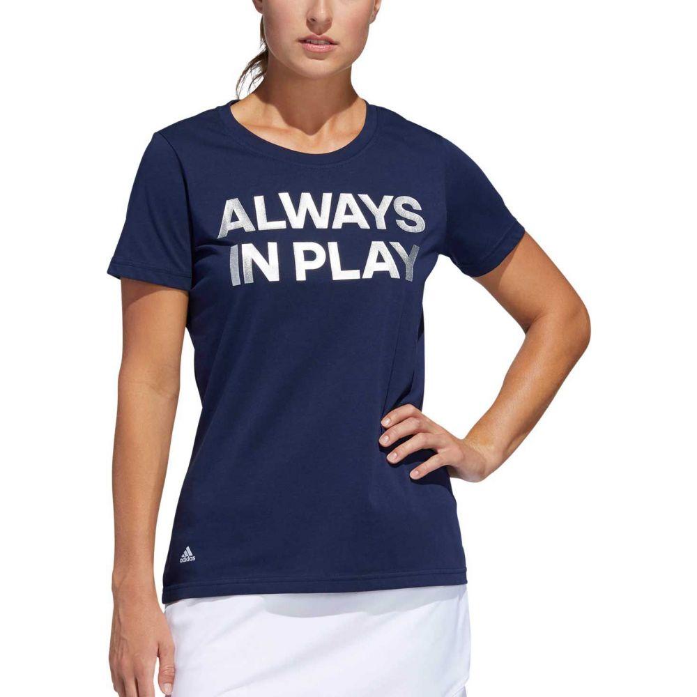 アディダス adidas レディース ゴルフ トップス【Always In Play Golf Shirt】Night Indigo