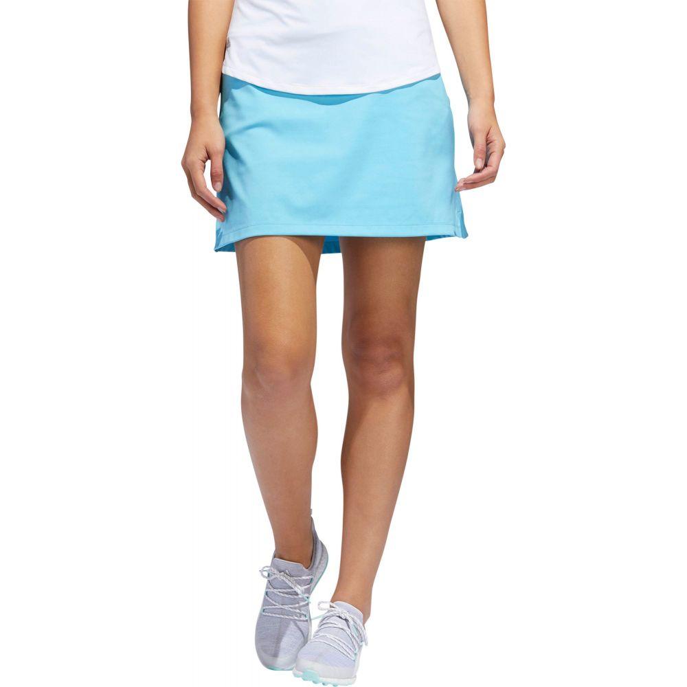 アディダス adidas レディース ゴルフ ボトムス・パンツ【Ultimate Knit Heathered Golf Skort】Bright Cyan