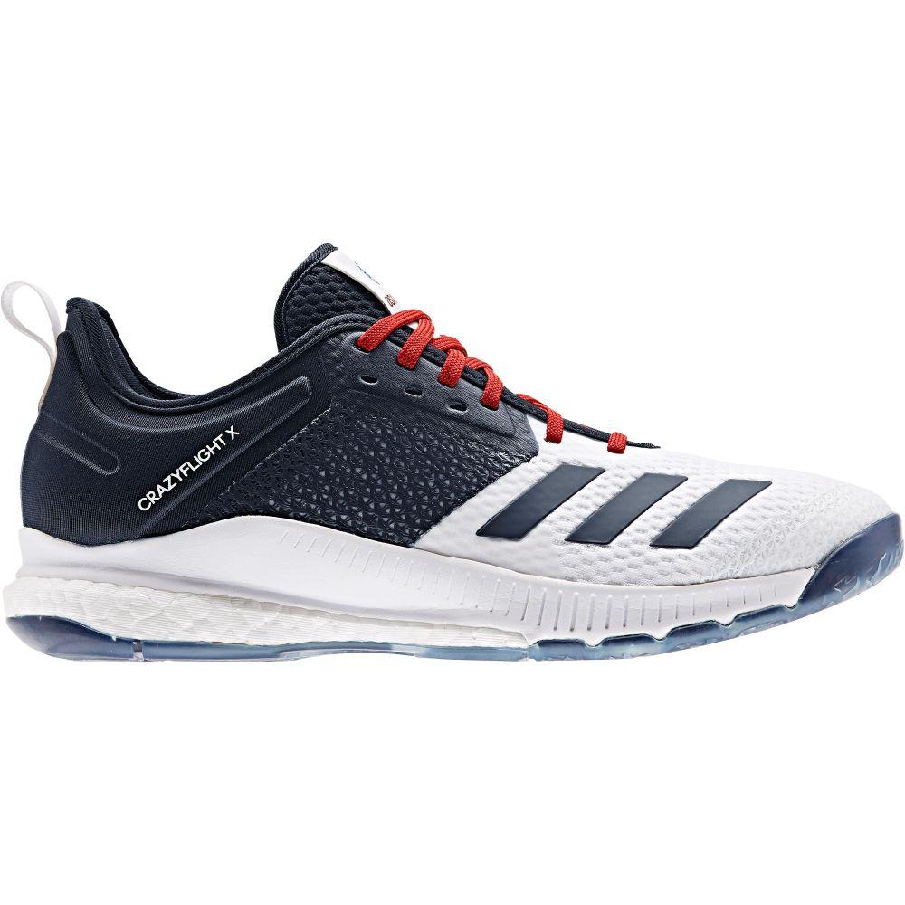 アディダス adidas レディース バレーボール シューズ・靴【crazyflight x 3 usa volleyball shoes】White/Navy/Red