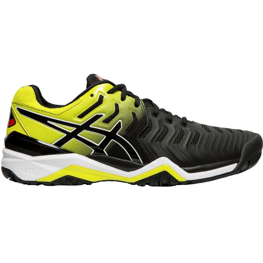 アシックス ASICS メンズ テニス シューズ・靴【gel-resolution 7 tennis shoes】Black/Yellow