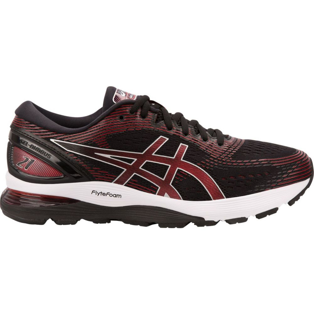 アシックス ASICS メンズ ランニング・ウォーキング シューズ・靴【Gel-Nimbus 21 Running Shoes】Black/White/Red