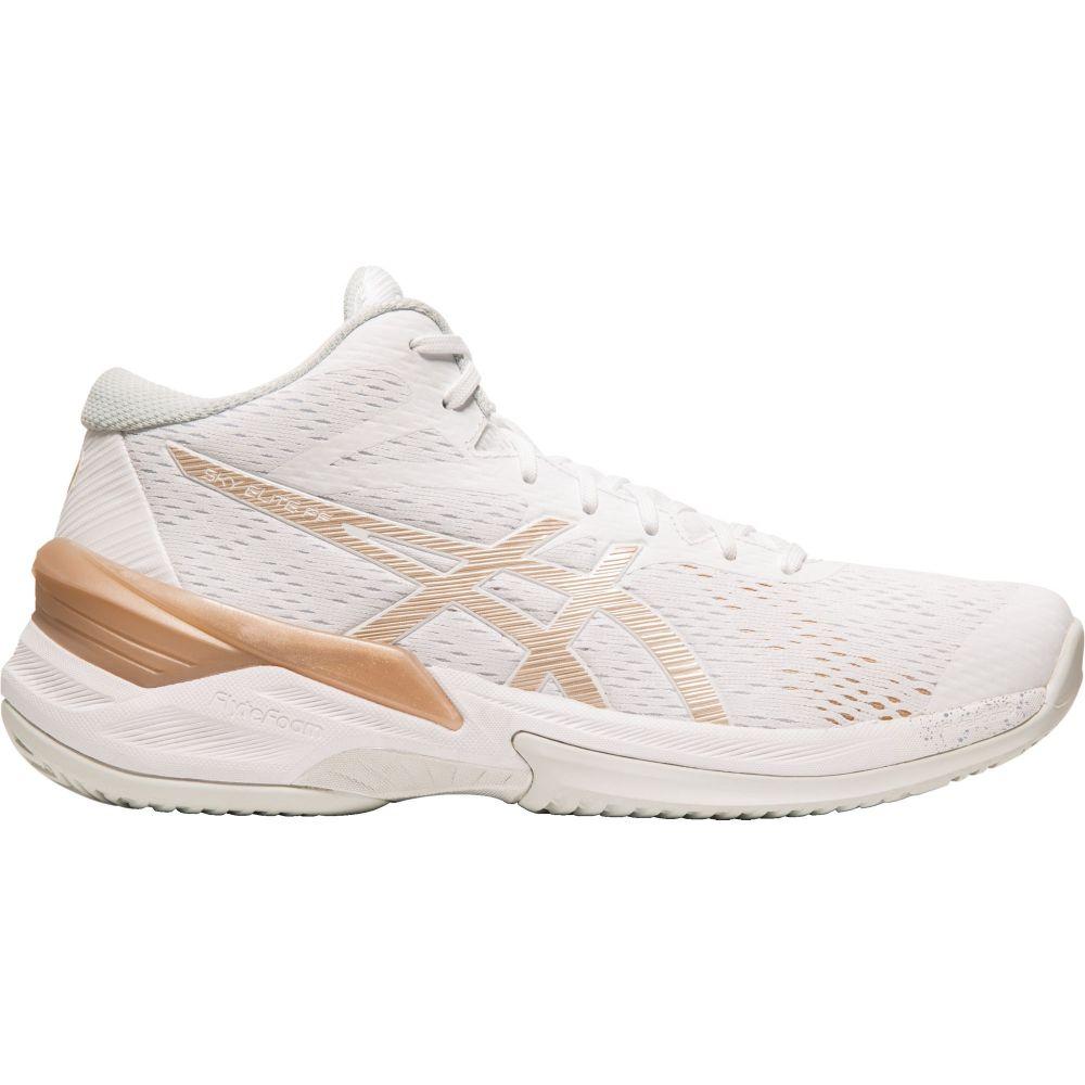 アシックス ASICS レディース バレーボール シューズ・靴【sky elite ff mid top volleyball shoes】White/Gold