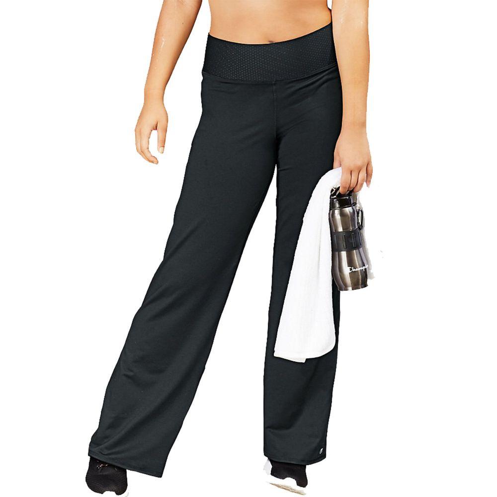 チャンピオン Champion レディース ボトムス・パンツ 大きいサイズ【plus size absolute semi-fit smoothtec band pants】Black