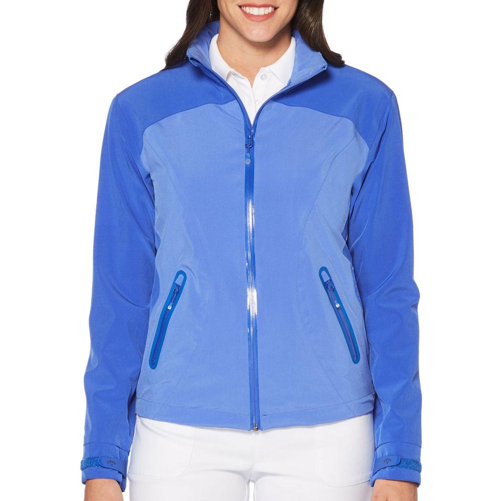 キャロウェイ Callaway レディース ゴルフ アウター【Waterproof Tonal Panel Golf Jacket】Dazzling Blue