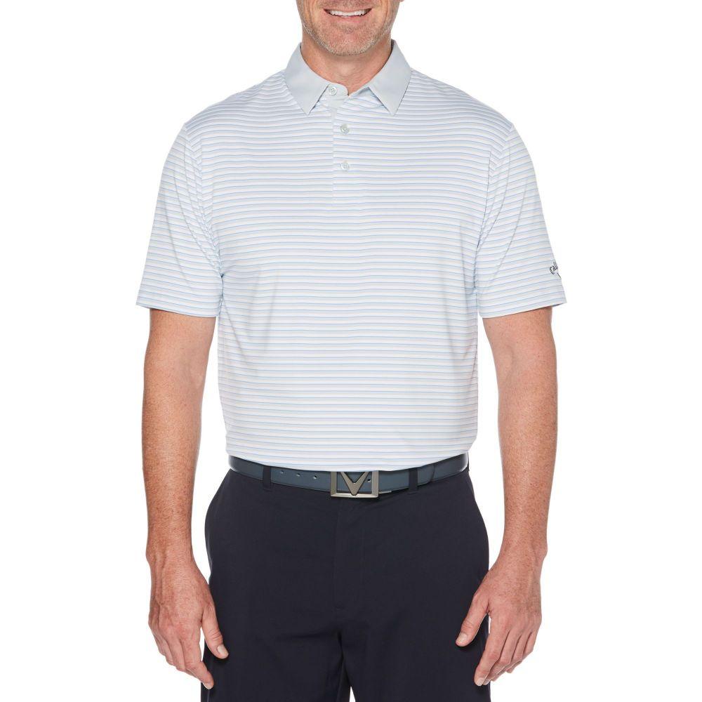 リアル キャロウェイ White Golf Callaway メンズ ゴルフ トップス Color【Refined 3 Color Stripe Golf Polo】Bright White, 印南町:acb0d00a --- enduro.pl