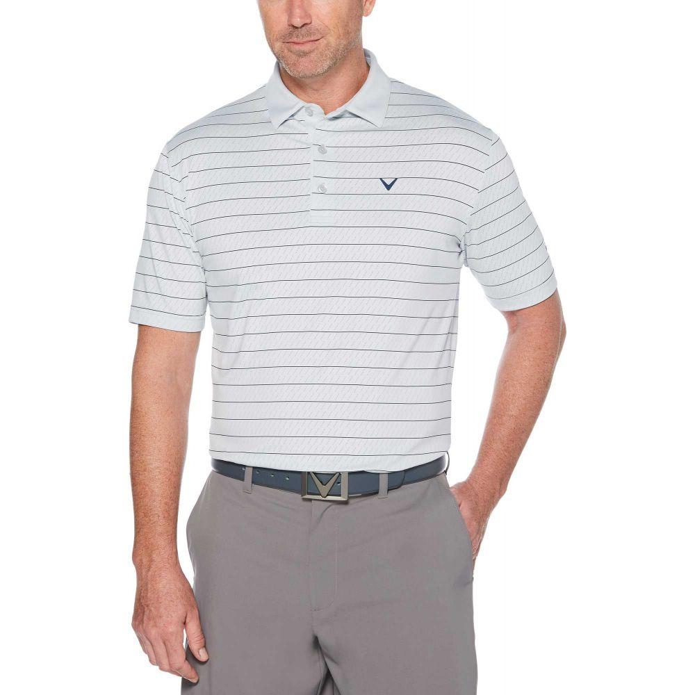 人気絶頂 キャロウェイ Stripe Callaway Dawn メンズ ゴルフ Golf トップス【Ventilated Stripe Golf Polo】Gray Dawn, 悠彩堂:ad9ec107 --- enduro.pl