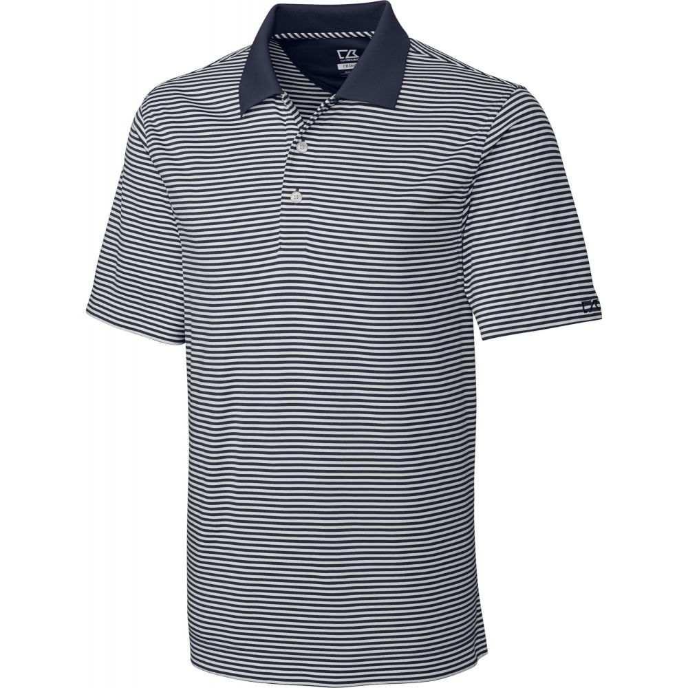 カッター&バック Cutter & Buck メンズ ゴルフ トップス【CB DryTec Trevor Stripe Golf Polo】Onyx/White