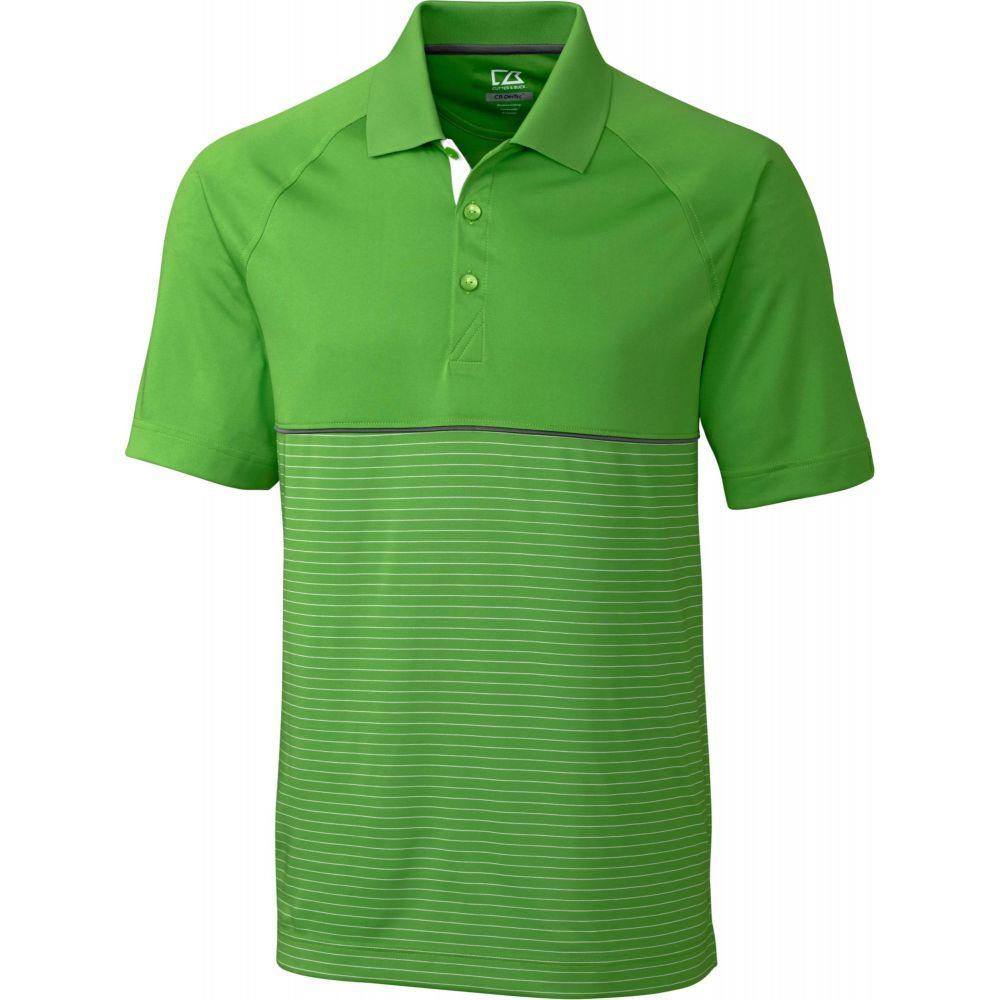 カッター&バック Cutter & Buck メンズ ゴルフ トップス【CB DryTec Junction Stripe Hybrid Golf Polo】Cilantro/White