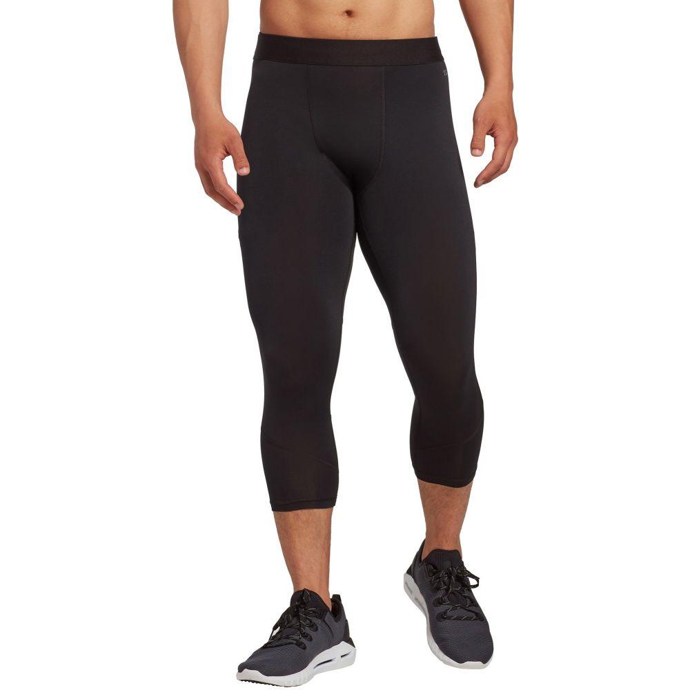 DSG メンズ フィットネス・トレーニング タイツ・スパッツ ボトムス・パンツ【3/4 compression tights】Pure 黒