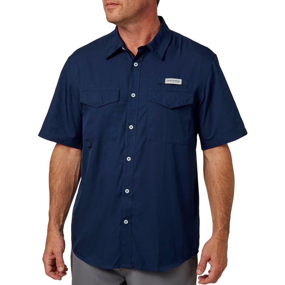 フィールドアンドストリーム Field & Stream メンズ 釣り・フィッシング トップス【Short Sleeve Latitude Fishing Shirt】University Navy