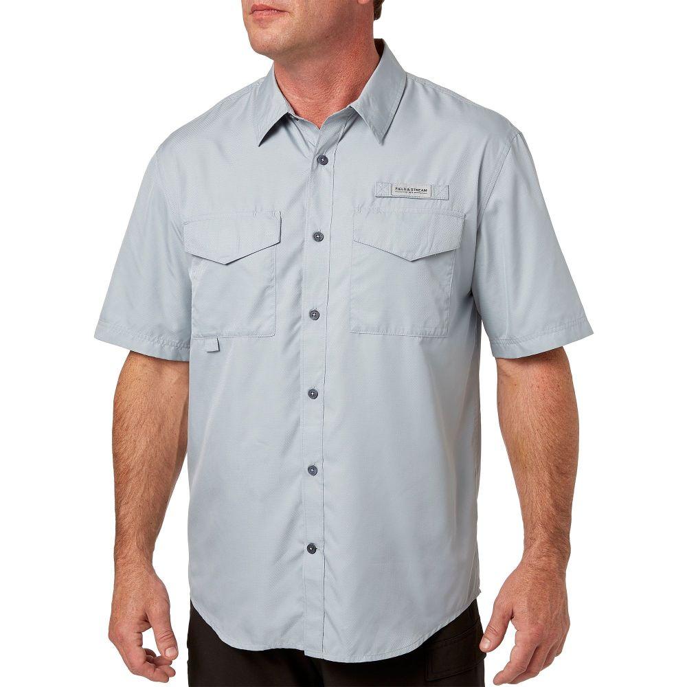 フィールドアンドストリーム Field & Stream メンズ 釣り・フィッシング トップス【Short Sleeve Latitude Fishing Shirt】Quarry Grey