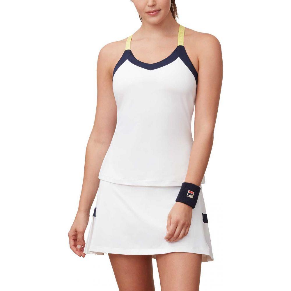 フィラ Fila レディース テニス トップス【Argyle Cami Tennis Tank Top】White/Navy/Aurora