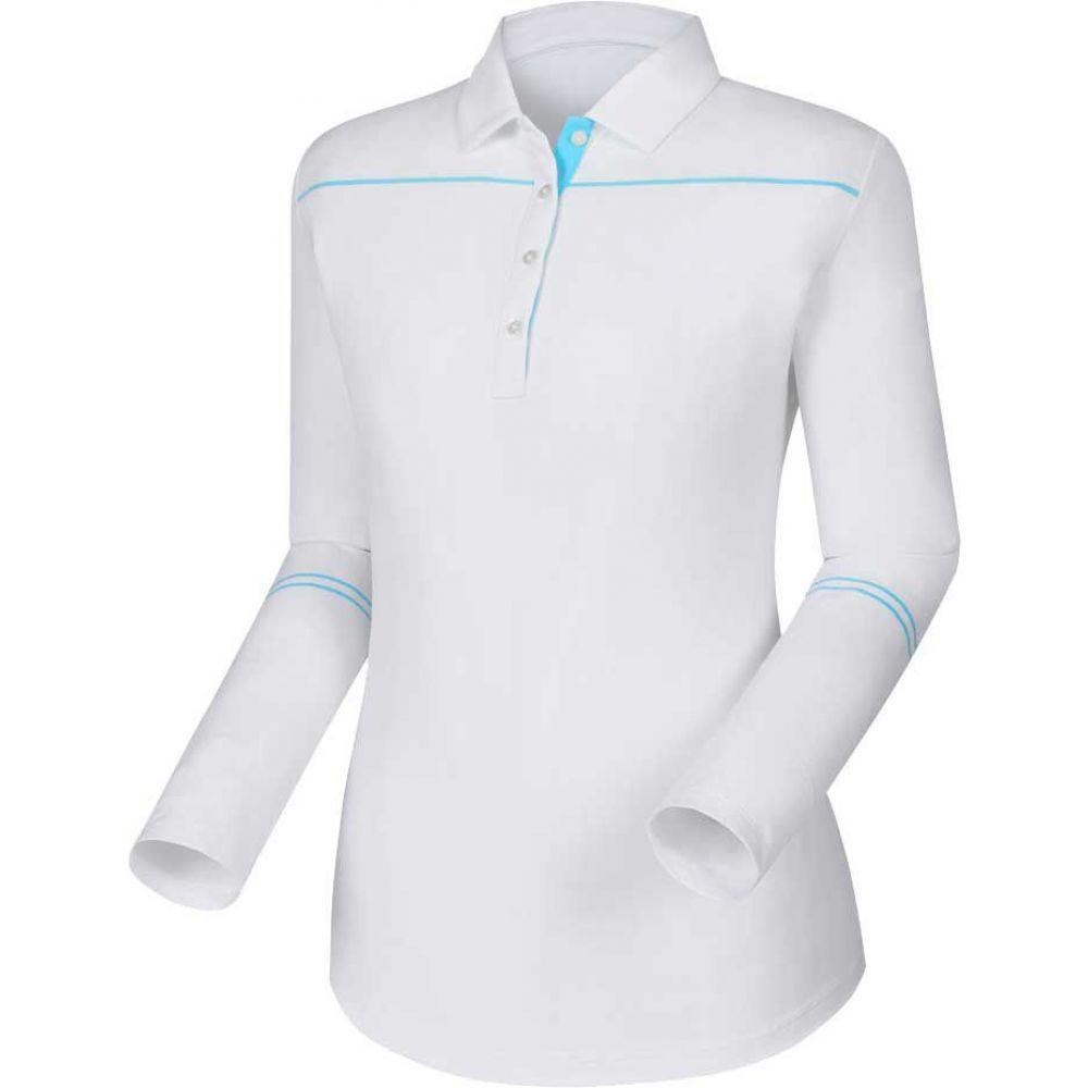 フットジョイ FootJoy Protection レディース ゴルフ トップス Polo】White/Blue【Sun フットジョイ Protection Long Sleeve Golf Polo】White/Blue, MilkyFace:c5e14ec4 --- officewill.xsrv.jp