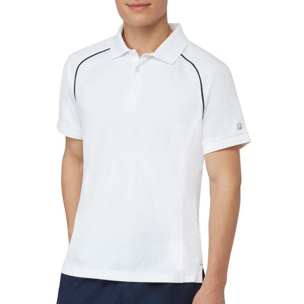 フィラ Fila メンズ テニス トップス【Piped フィラ テニス Tennis Polo トップス【Piped】White, ミックスマート:c196c69e --- officewill.xsrv.jp