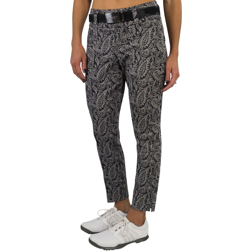 ジョフィット Jofit レディース ゴルフ ボトムス・パンツ【Slimmer Cropped Golf Pants】Paisley