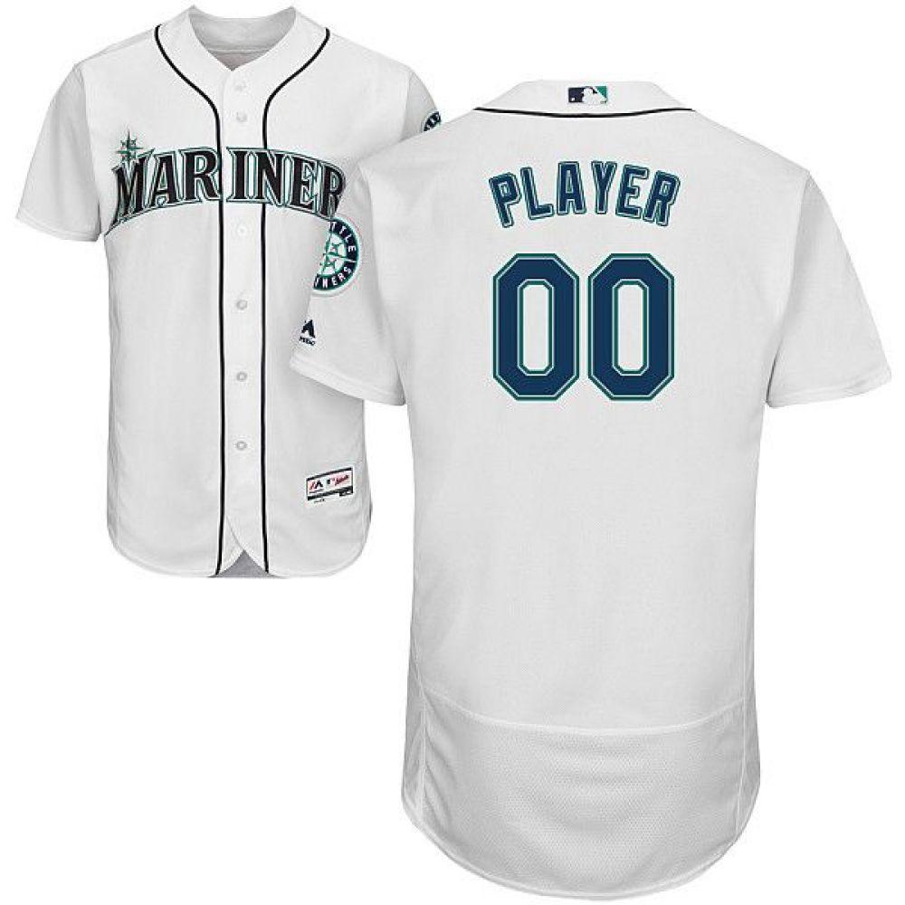 マジェスティック Majestic メンズ トップス【Full Roster Authentic Seattle Mariners Flex Base Home White On-Field Jersey】