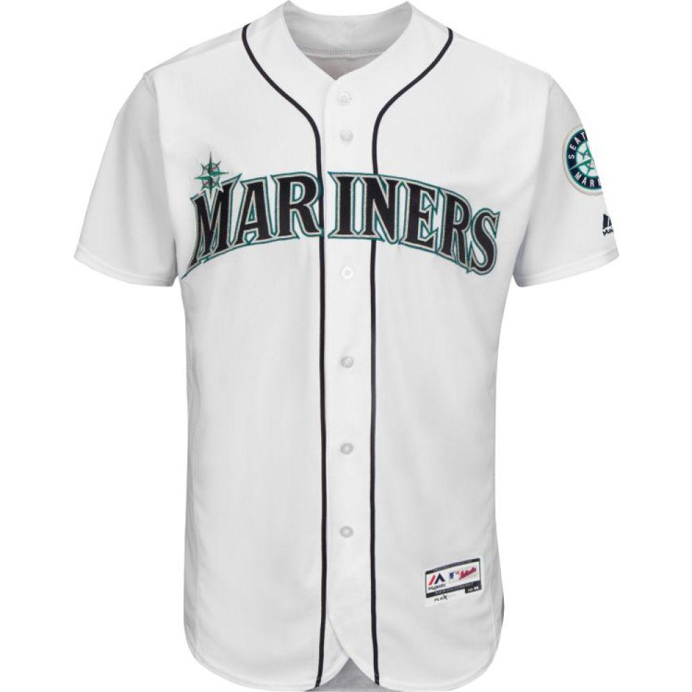 マジェスティック Majestic メンズ トップス【Authentic Seattle Mariners Home White Flex Base On-Field Jersey】