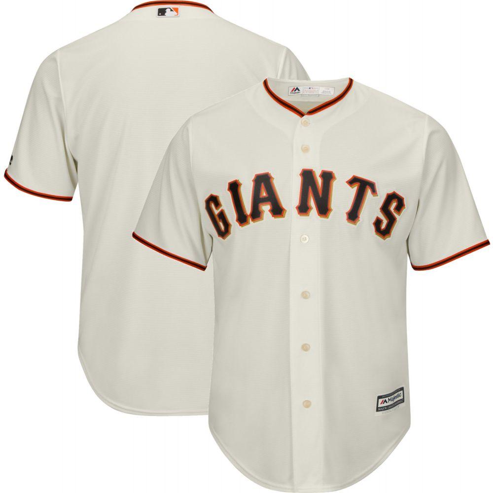 マジェスティック Majestic メンズ トップス【Replica San Francisco Giants Cool Base Home Ivory Jersey】