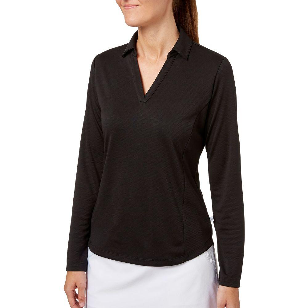 レディー ハーゲン Lady Hagen レディース ゴルフ トップス【Solid Long Sleeve Golf Polo】Black