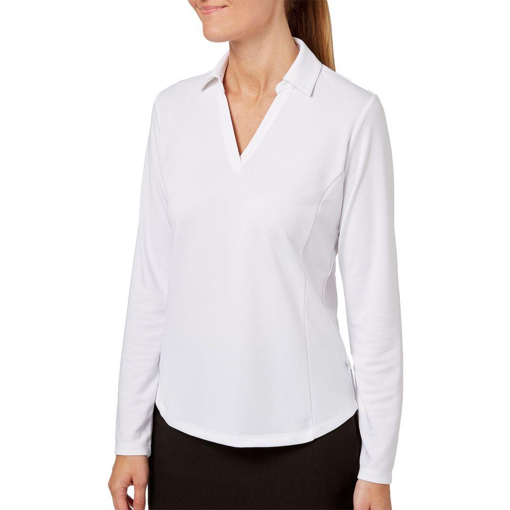 レディー ハーゲン Lady Hagen レディース ゴルフ トップス【Solid Long Sleeve Golf Polo】White