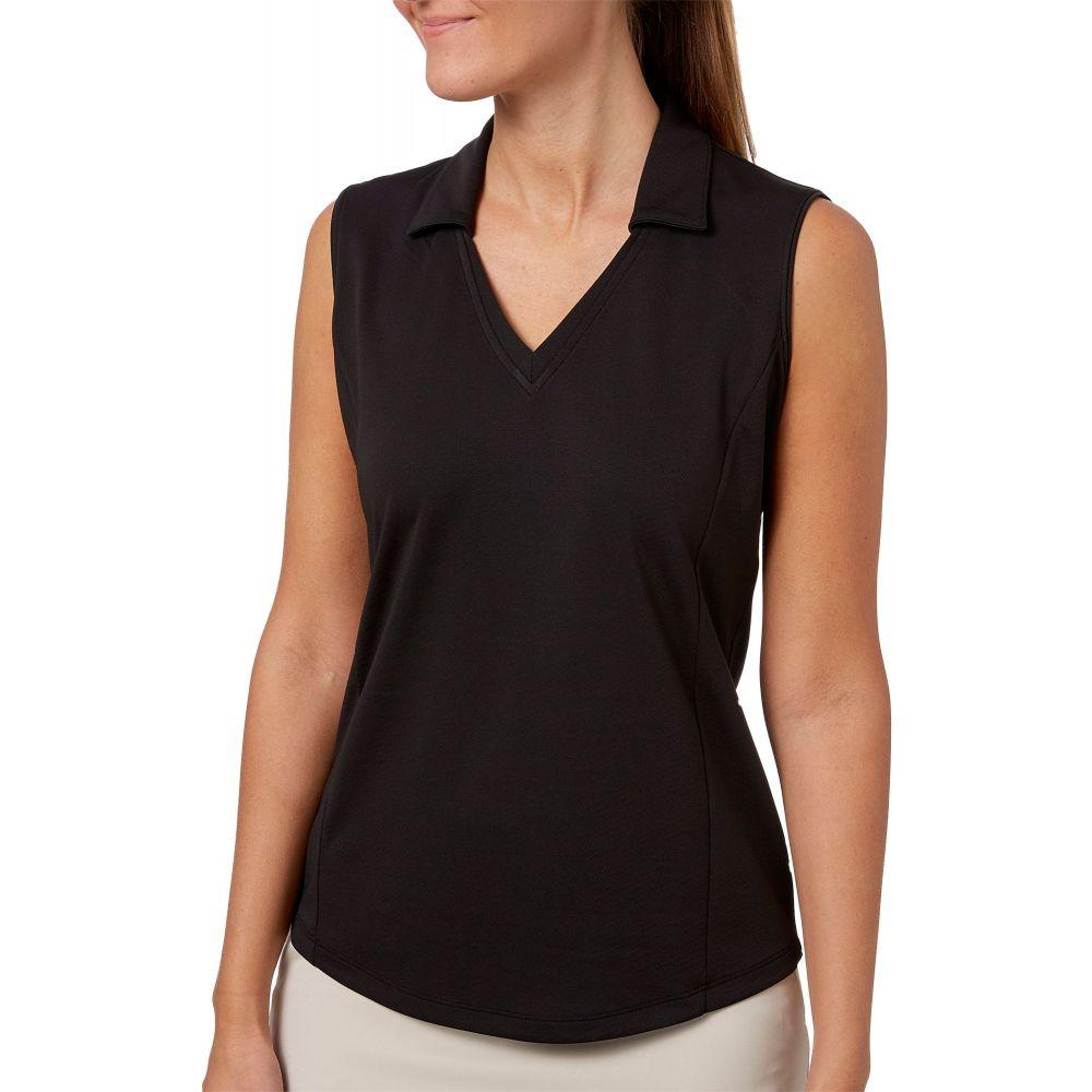 レディー ハーゲン Lady Hagen レディース ゴルフ トップス【Solid Sleeveless Golf Polo】Black