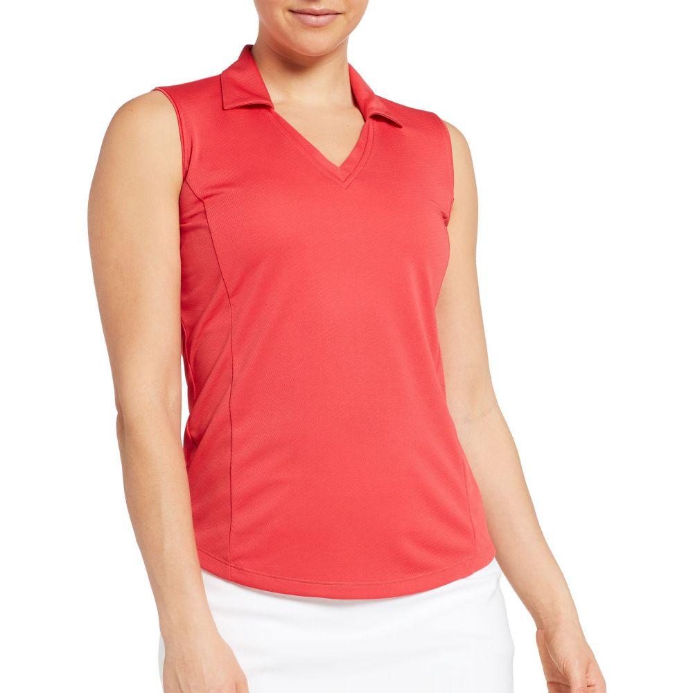 レディー ハーゲン Lady Hagen レディース ゴルフ トップス【Solid Sleeveless Golf Polo】Tomato Red