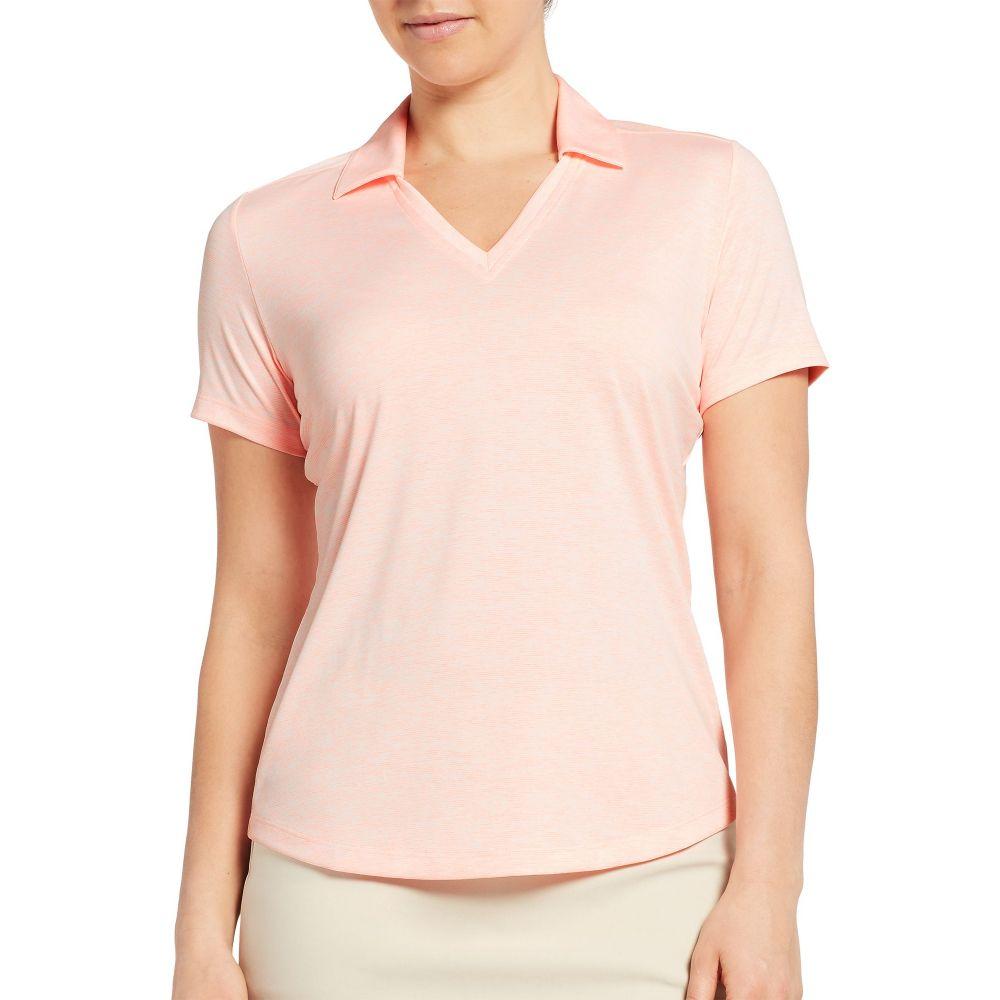 レディー ハーゲン Lady Hagen レディース ゴルフ トップス【Spacer Textured Short Sleeve Golf Polo】Lt Orange