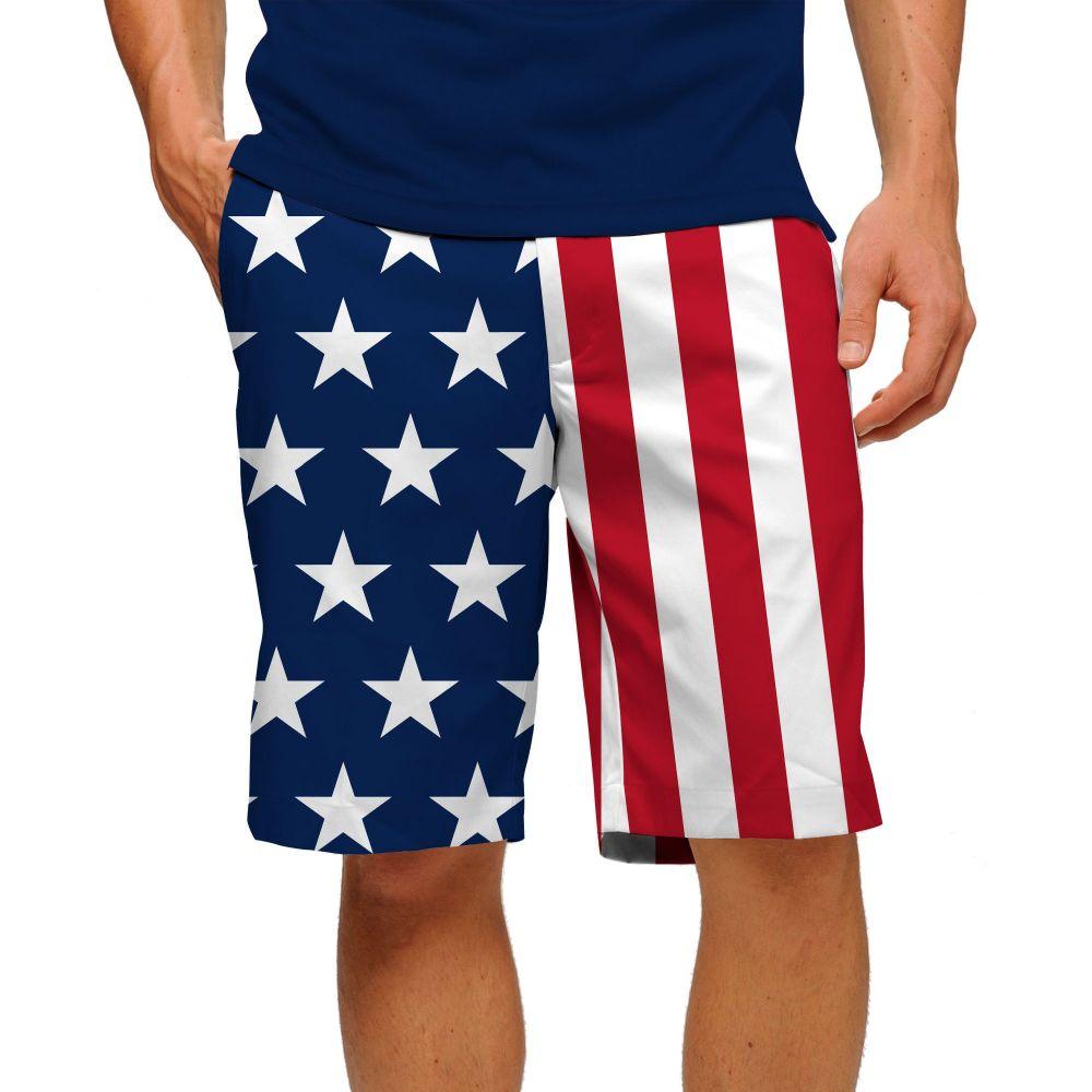 ラウドマウスゴルフ Loudmouth Golf メンズ ゴルフ ショートパンツ ボトムス・パンツ【loudmouth stars & stripes stretch tech golf shorts】Multi