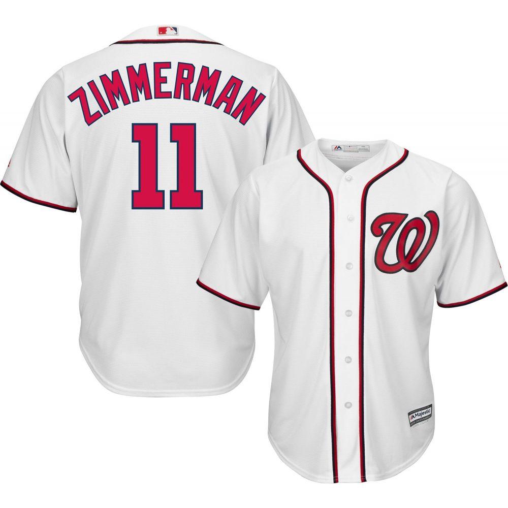 マジェスティック Majestic メンズ トップス【Replica Washington Nationals Ryan Zimmerman #11 Cool Base Home White Jersey】