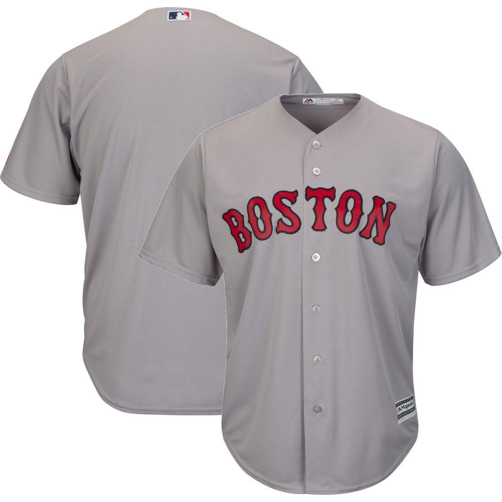 マジェスティック Majestic メンズ トップス【Replica Boston Red Sox Cool Base Road Grey Jersey】