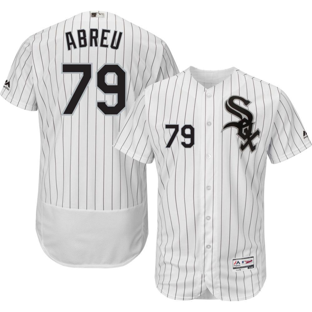 マジェスティック Majestic メンズ トップス【Authentic Chicago White Sox Jose Abreu #79 Home White Flex Base On-Field Jersey】