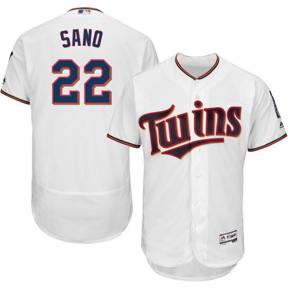 マジェスティック Majestic メンズ トップス【Authentic Minnesota Twins Miguel Sano #22 Home White Flex Base On-Field Jersey】
