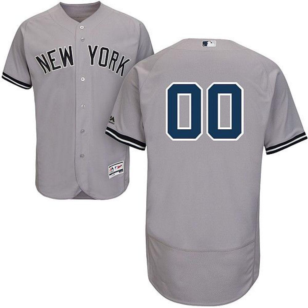 マジェスティック Majestic メンズ トップス【Full Roster Authentic New York Yankees Flex Base Road Grey On-Field Jersey】