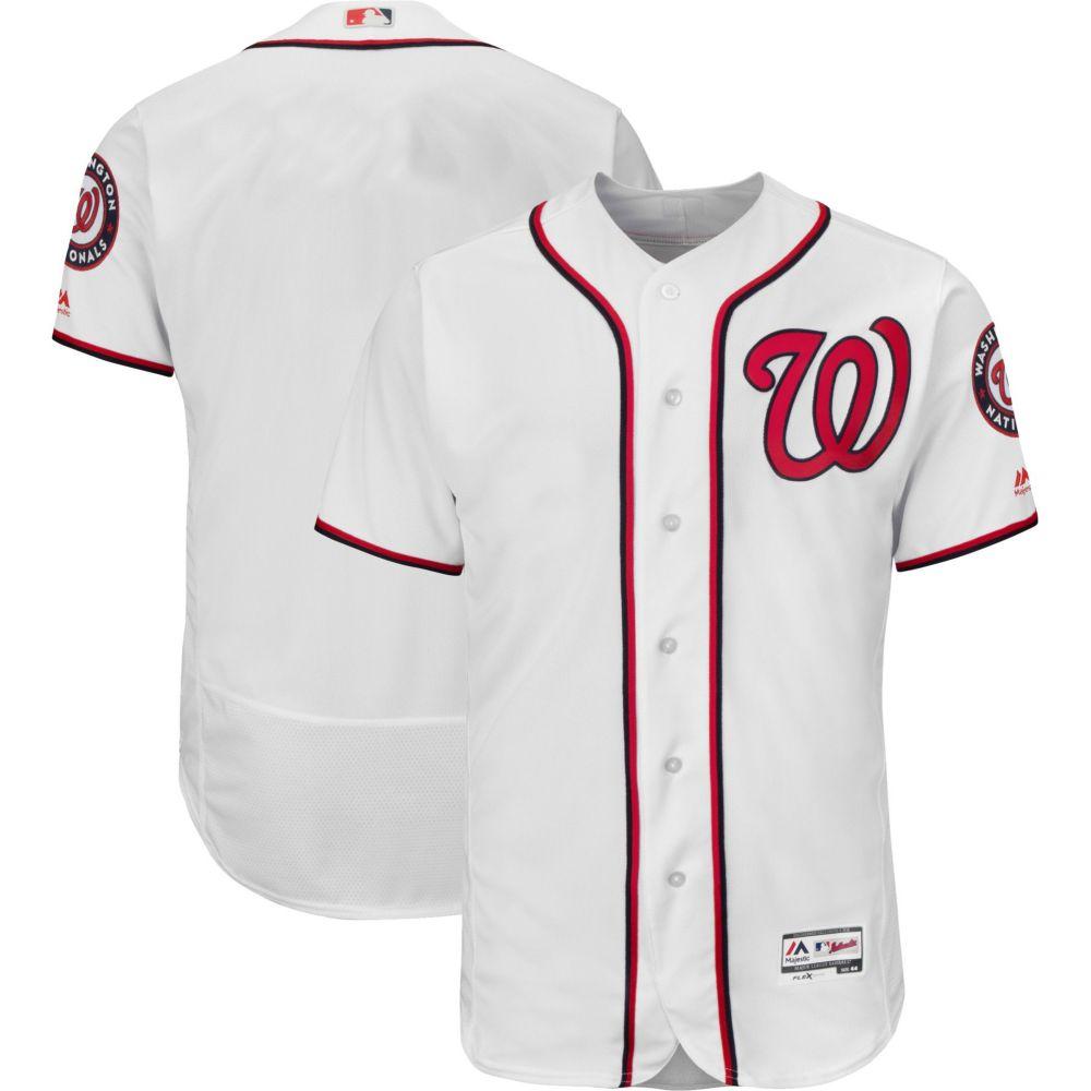 マジェスティック Majestic メンズ トップス【Authentic Washington Nationals Home White Flex Base On-Field Jersey】
